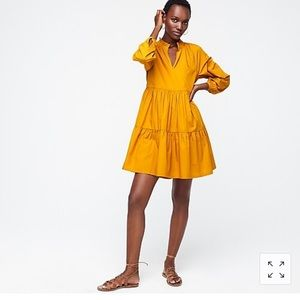 J.Crew Tiered popover dress in cotton